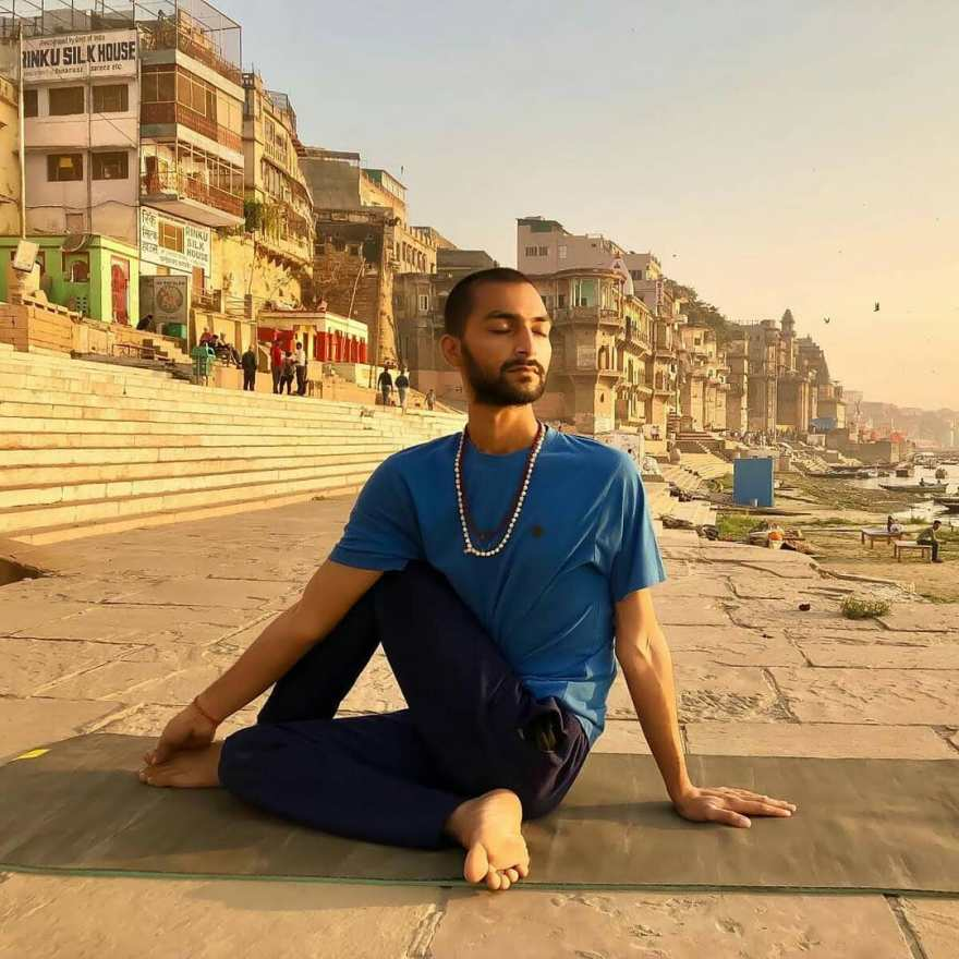 Ardhamatsyendrasana Yoga Asana - Varanasi - Online Class