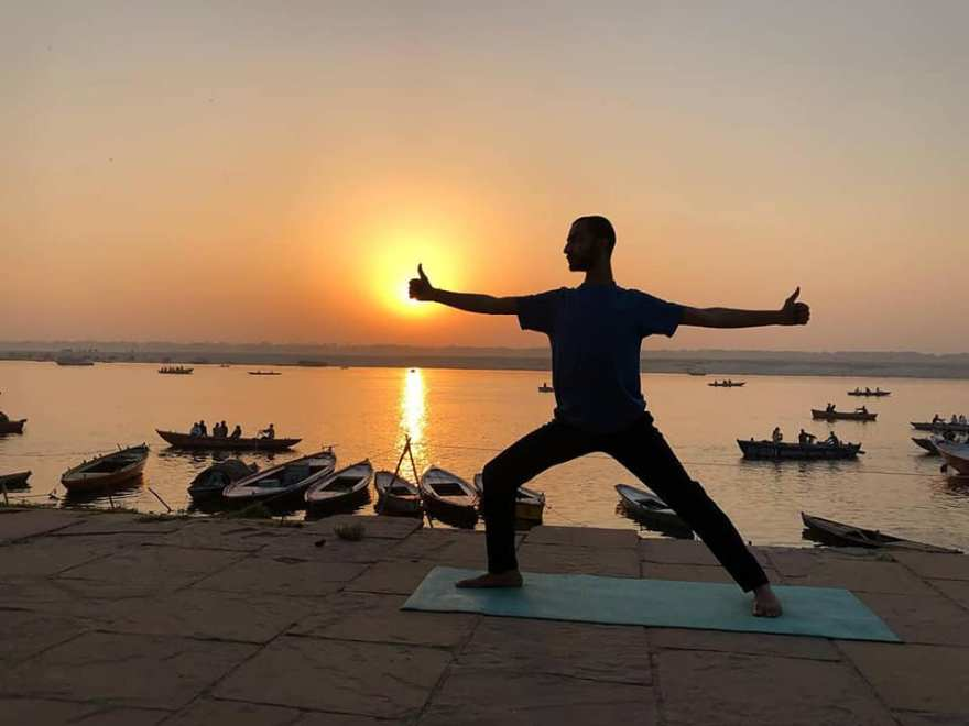 Yoga with Ayush Customised Personal Asana training Online and Varanasi Ganga Ghats